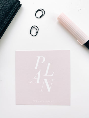 Plan Pink and White 3x3 Card