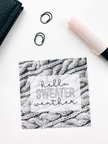 Sweater Weather  3x3 Card