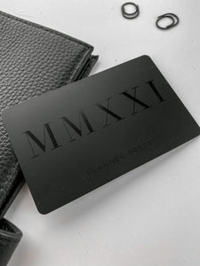 2021 Matte Black Ghost Pocket Card