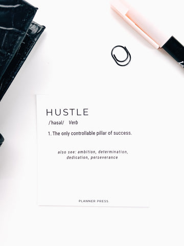 Hustle Definition 3x3 Card