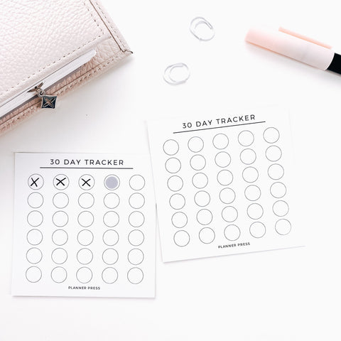 30 Day Tracker 3x3 Card System