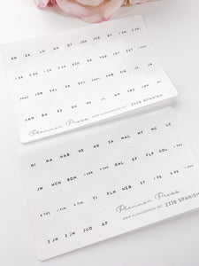 Spanish Bible Tabs Foiled Clear Foiled Tabs For Planners and Travelers Notebooks 2338