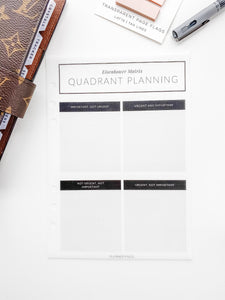 Quadrant Planning Dashboard V432