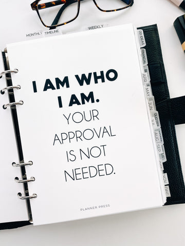 I Am Who I Am Planner Dashboards For Ringbound Planners V399