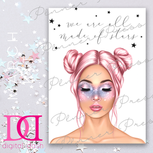 Galaxy Girl Dashboard - Digital Dashbox - March 2019 Digital Download