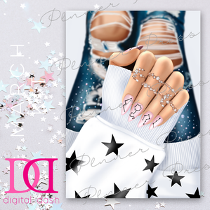 Galaxy Nails Dashboard - Digital Dashbox - March 2019 Digital Download