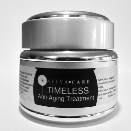 Hemp TIMELESS-SILVER -- An Anti-Aging Formulation for Mature & More Mature Skin