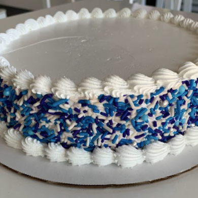 Blue Summer Ice Cream Cake