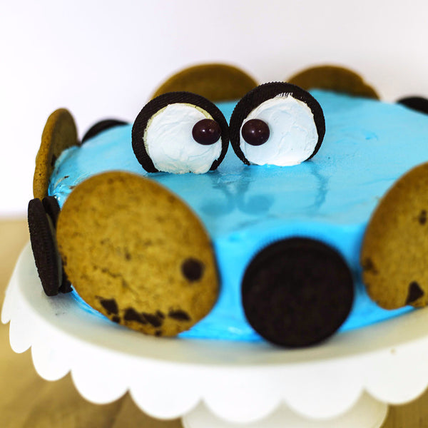 Cookie Monster Ice Cream Cake