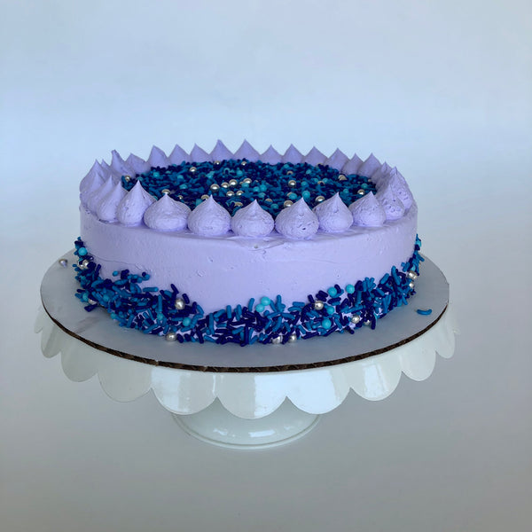 Violet Sprinkle Single Layer Cake
