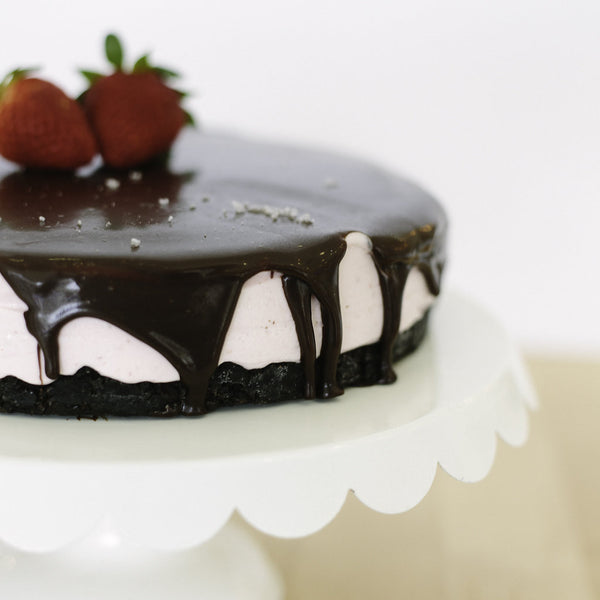 Strawberry Chocolate Ganache Ice Cream Cake