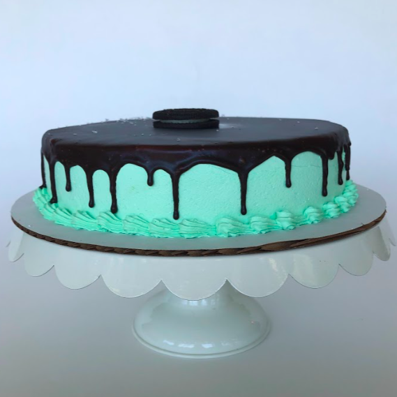 Single Layer Mint Chip Cake