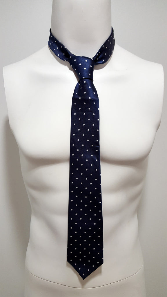 Navy Blue w/ Dots Necktie