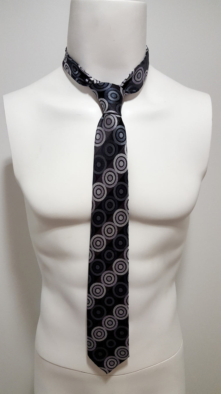 Grey Circles Necktie