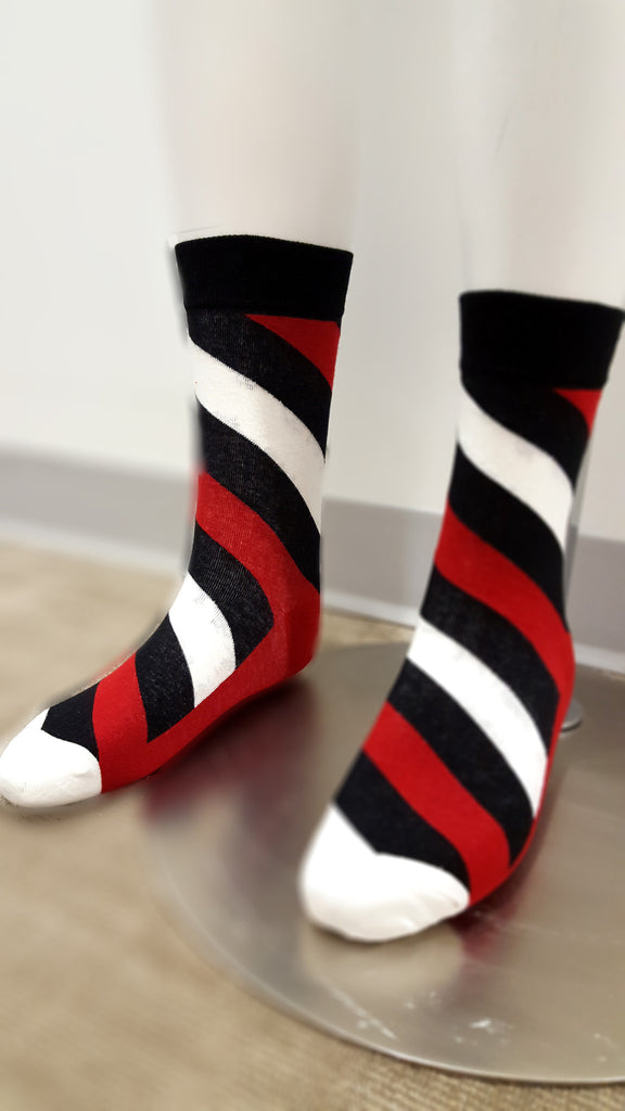 Red & Black Striped Socks