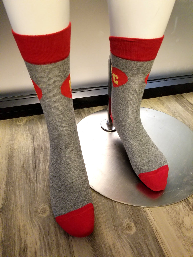 Red & Grey KC Sock