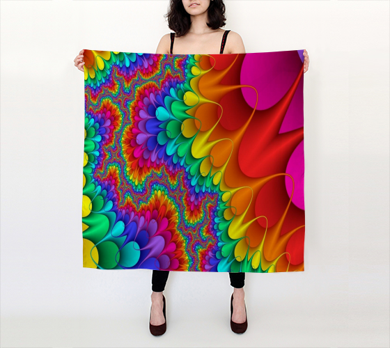 "Evelin 36""x36"" Big Square Silk Scarf  JoJo (11102140-SS-B) - I WEAR JOJO"