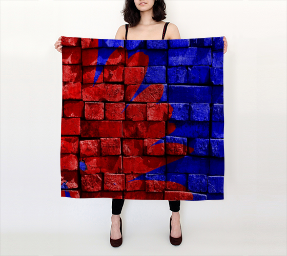 "Paola 36""x36"" Big Square Silk Scarf by JoJo (11102155-SS-B) - I WEAR JOJO"