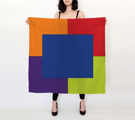 "Ana 36""x36"" Big Square Silk Scarf by JoJo (11102161-SS-B) - I WEAR JOJO"