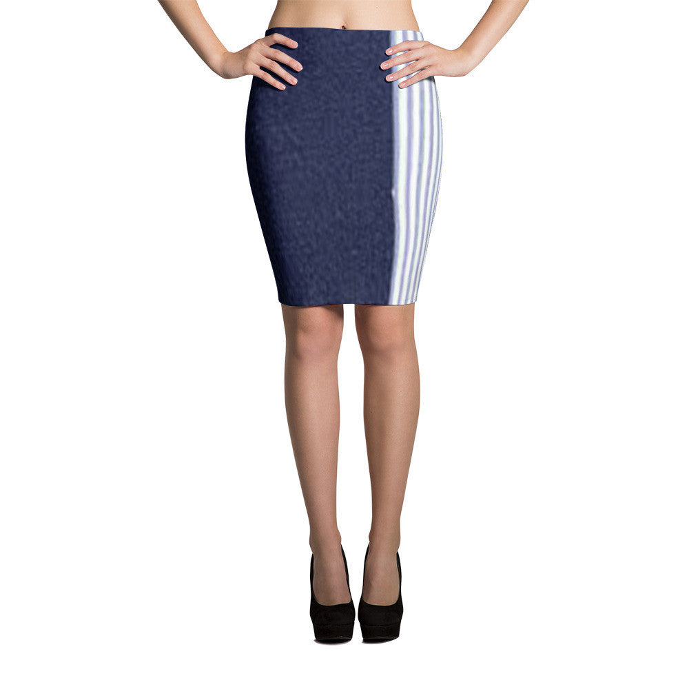 Denim Medley Pencil Skirts (71101047) - I WEAR JOJO