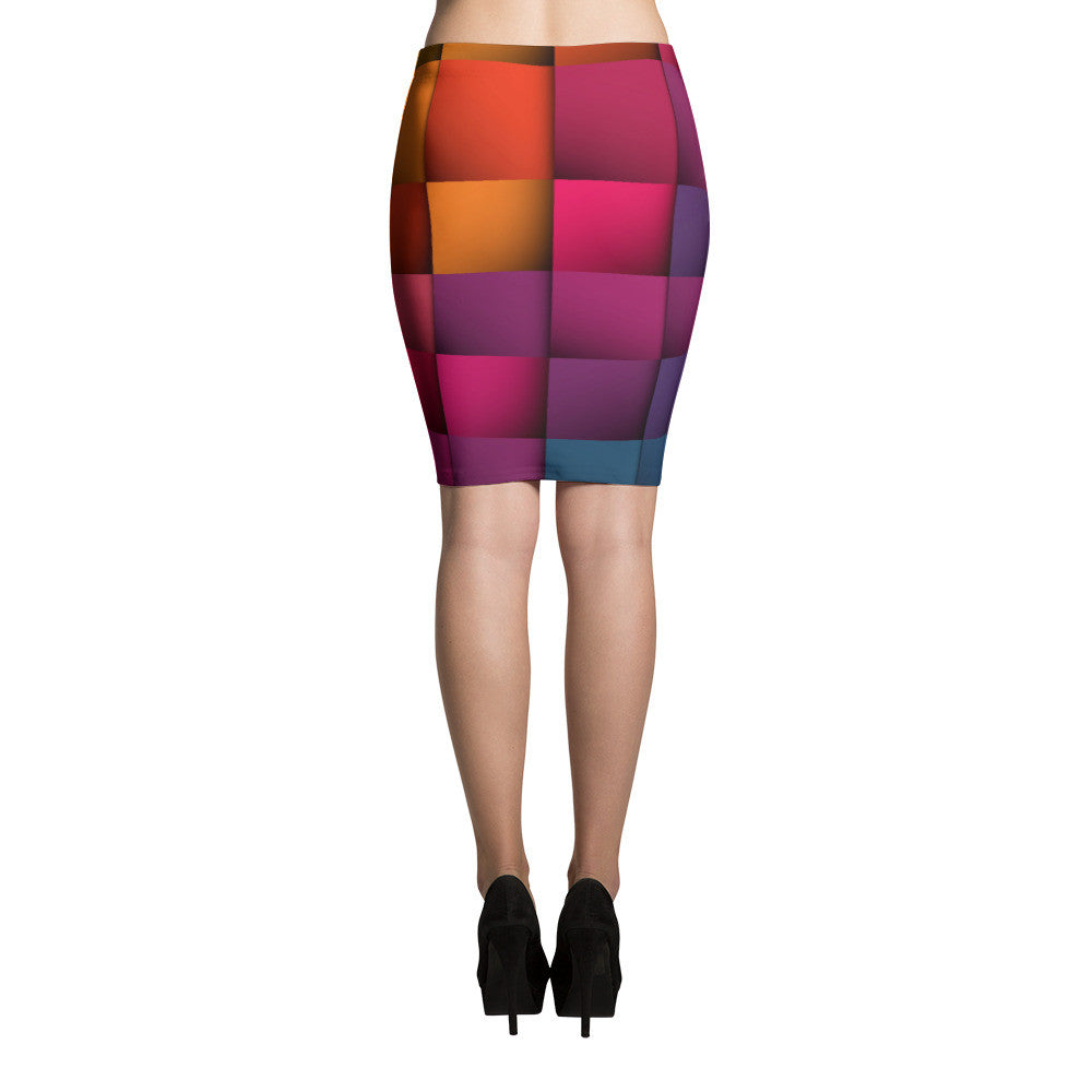 Rainbow Weave Pencil Skirts (71101026) - I WEAR JOJO