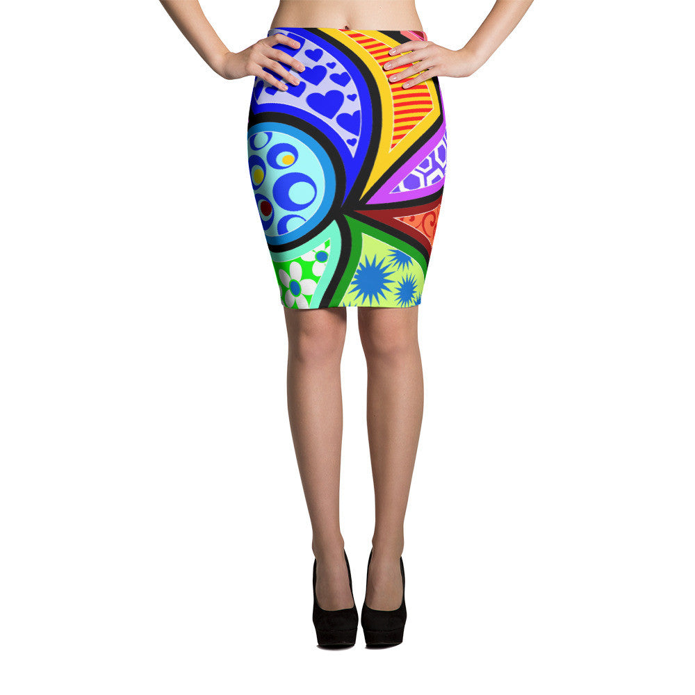 Stained Glass Pencil Skirts by JoJo (71101041) - I WEAR JOJO