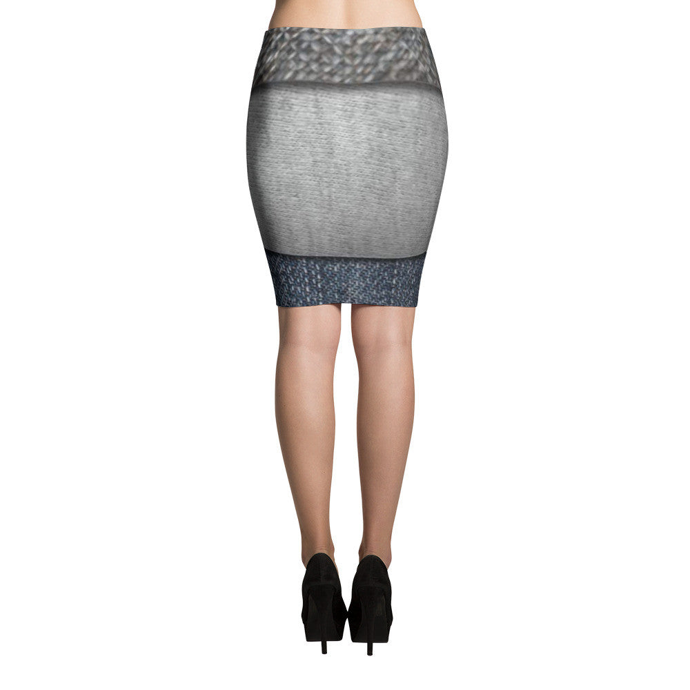 Tri Denim Pencil Skirts by JoJo (71101046)