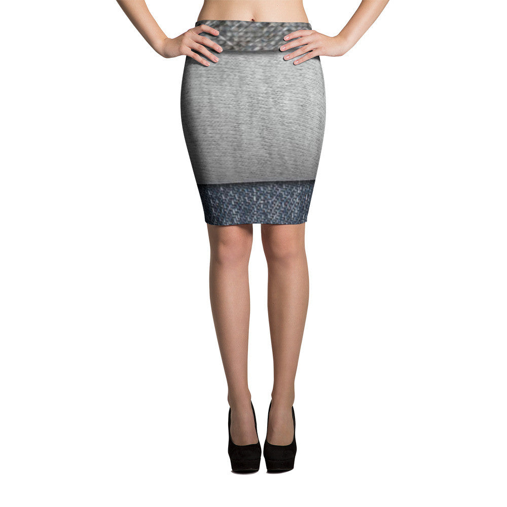 Tri Denim Pencil Skirts by JoJo (71101046) - I WEAR JOJO