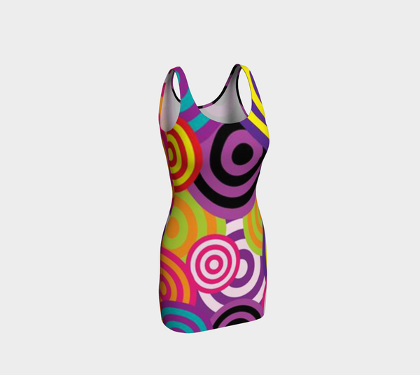 Rainbow Bullseye Bodycon by JoJo (1170018-B) - I WEAR JOJO
