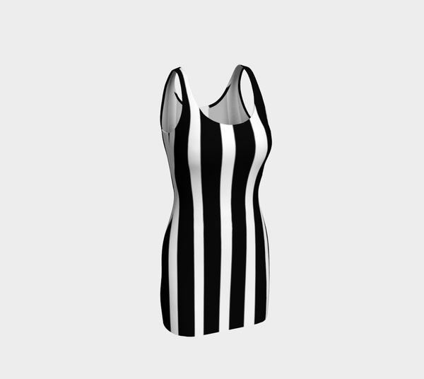 All Striped Out Bodycon Dress by JoJo (1170002-B) - I WEAR JOJO