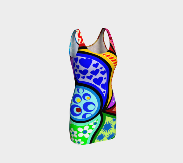 Stained Glass Bodycon Dress by JoJo (1170029-B) - I WEAR JOJO