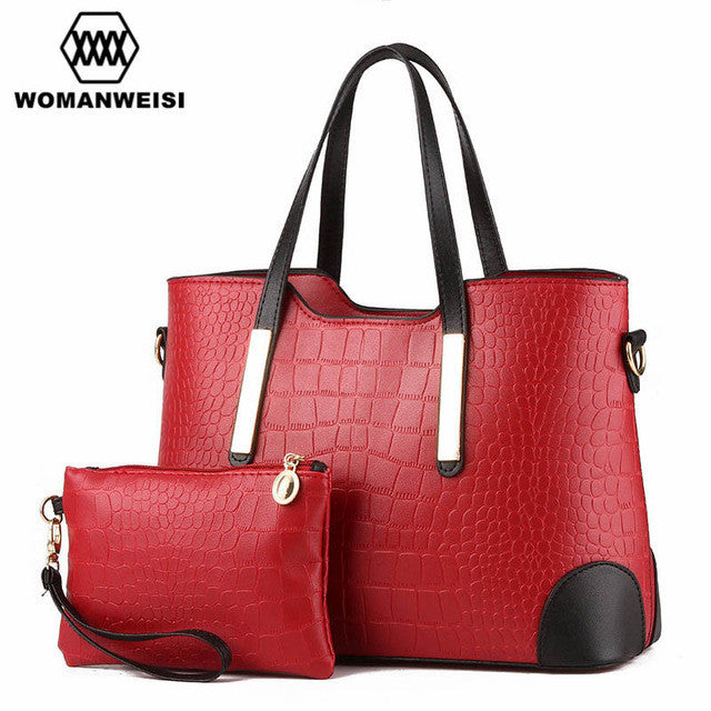 Luxury Women Bags 2017 Brand New Designer Purses And Handbags Set Fashion Leather Lady Messenger Cross-body Bags Sacoche 8 Color - I WEAR JOJO