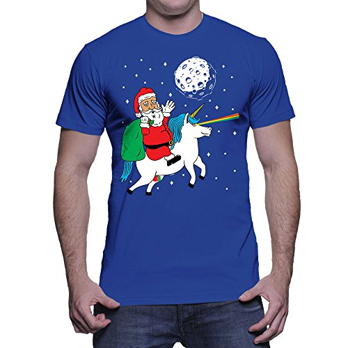 2017 Fashion funny casual Man Tops tees Mens Santa Riding Unicorn Ugly Christmas Sweater T-shirt Men T Shirt Round Collar Tees - I WEAR JOJO