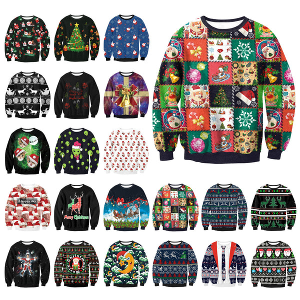 Gogoboi Unisex Men Women 2017 UGLY CHRISTMAS SWEATER Vacation Santa Elf Funny Womens Men Sweaters Tops Autumn Winter Clothing - I WEAR JOJO