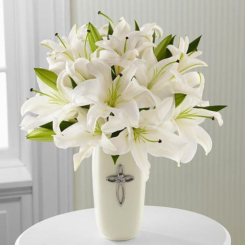 z Faithful Blessings Bouquet - VASE INCLUDED