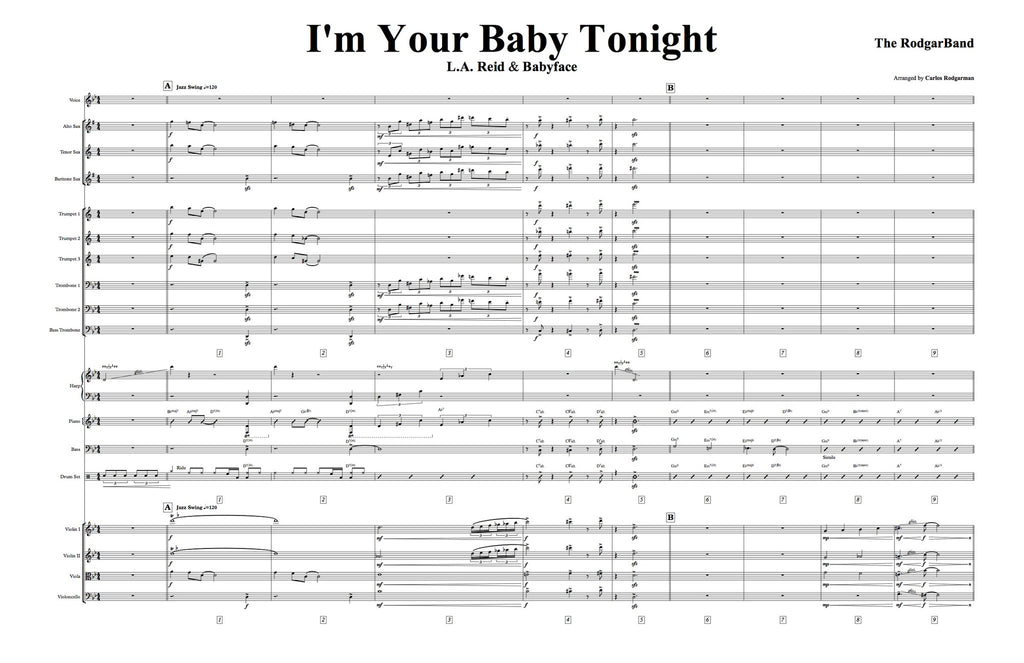 I'm Your Baby Tonight - Signed Master Score