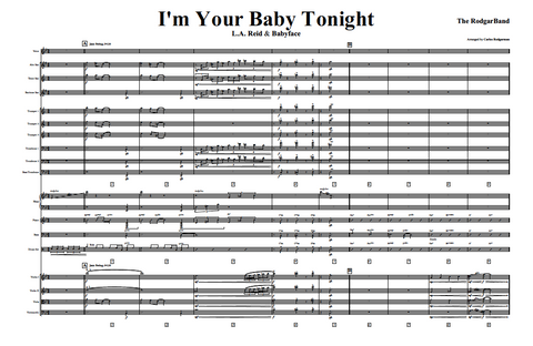 I'm Your Baby Tonight - Signed Master Score & Individual Parts