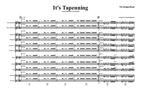 It's Tappening - Signed Master Score & Individual Parts