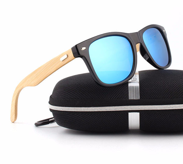Bamboo Wooden Frames Polarized Sunglasses - SHVEN
