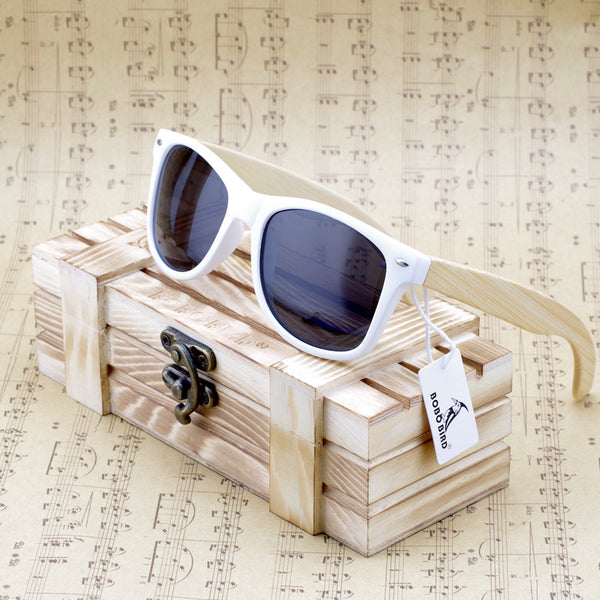 Bamboo Wooden Frame Polarized Sunglasses - SHVEN
