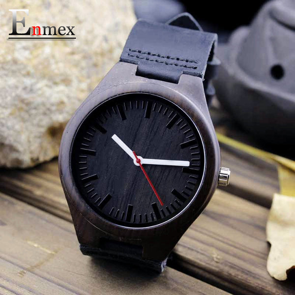 Black, Bamboo Wooden Watch - SHVEN