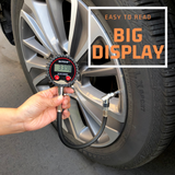 Digital Tire Pressure Gauge with Storage Case and Air Chuck Bundle - Elite Series - diycopro.com
