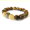 Agarwood and Antelope Horn Mala Bead Bracelet - Buddha Mediation Beads