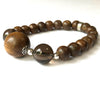 'Joy' - Agarwood and Citrine 19-Bead Bracelet