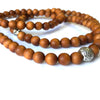 sandalwood buddhist prayer beads