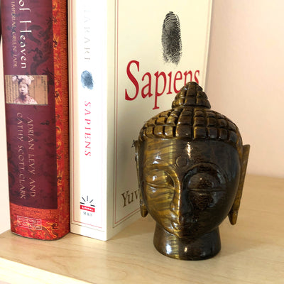 buddha head carving