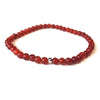 Mini Red 'Fire' Agate Gemstone 4mm Energy Bracelet