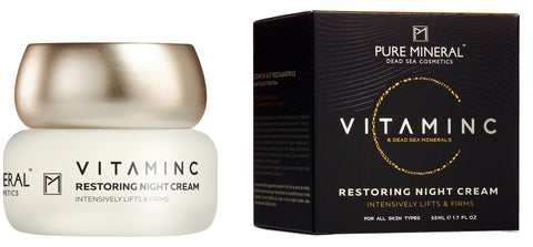 Pure Mineral - Vitamin C - Restoring Night Cream - deadseashop.co.uk
