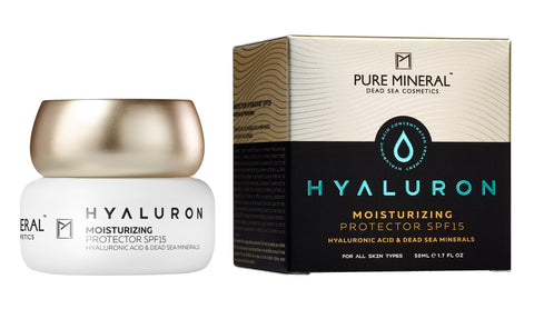 Pure Mineral Hyaluron Moisturizing Protector SPF-15 - deadseashop.co.uk