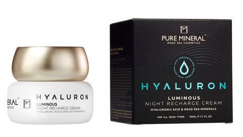 Pure Mineral Hyaluron Luminous Night Recharge Cream - deadseashop.co.uk